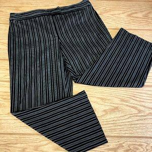 Villager Women's Pants Cotton Stretch Striped 12